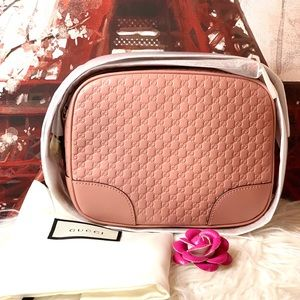 Gucci Bree Leather Pink Crossbody Bag